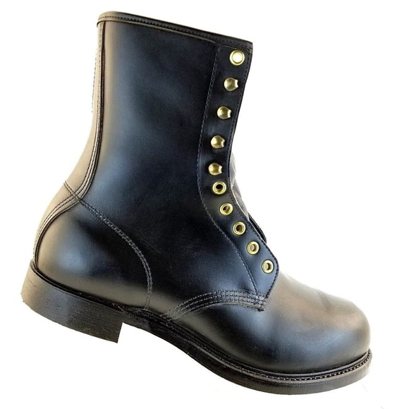 340aaa407614c Vintage Mason Black Gothic Steel Toe Combat Boots